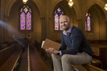 Old Testament Scholar Brent Strawn in Duke Chapel