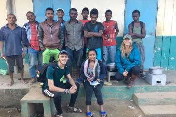 Tommy Klug studying energy usage in Madagascar