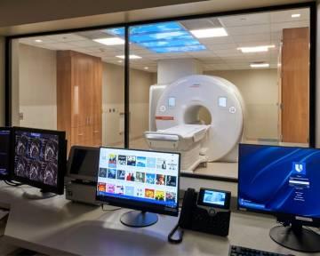 An MRI cardiac stress test machine