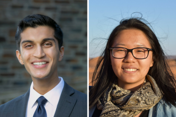 Truman Scholars Kushal Kadakia and Claire Wang