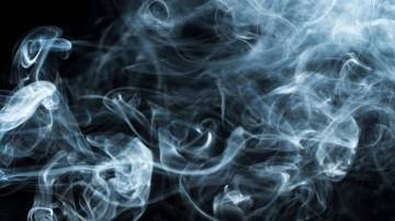 New research suggests how numerous tiny eddies such as the ones seen in this wisp of smoke squeeze themselves and transfer energy to smaller scales throughout a turbulent flow