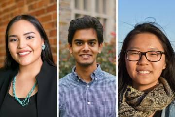 2018 Udall Scholars: Shandiin Herrera, Shomik Verma and Claire Wang