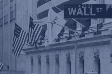 Graphic of Wall Street