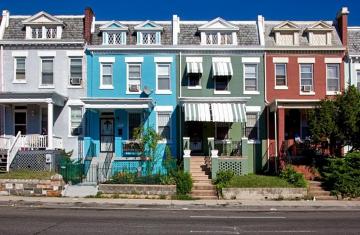 row houses in Washington DC