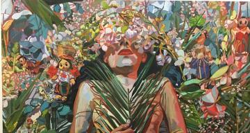 """Kiara Machado, """"Centro"""" (2019) (all photos by the author for Hyperallergic)"""