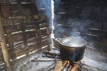 wood fire cooking in madagascar