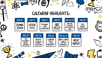 Calendar of virtual events for students to build community during orientation